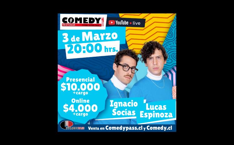LUCAS Y SOCIAS COMEDY ONLINE 03 DE MARZO 20:00 HRS.