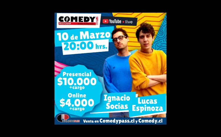 LUCAS Y SOCIAS COMEDY ONLINE 10 DE MARZO 20:00 HRS.